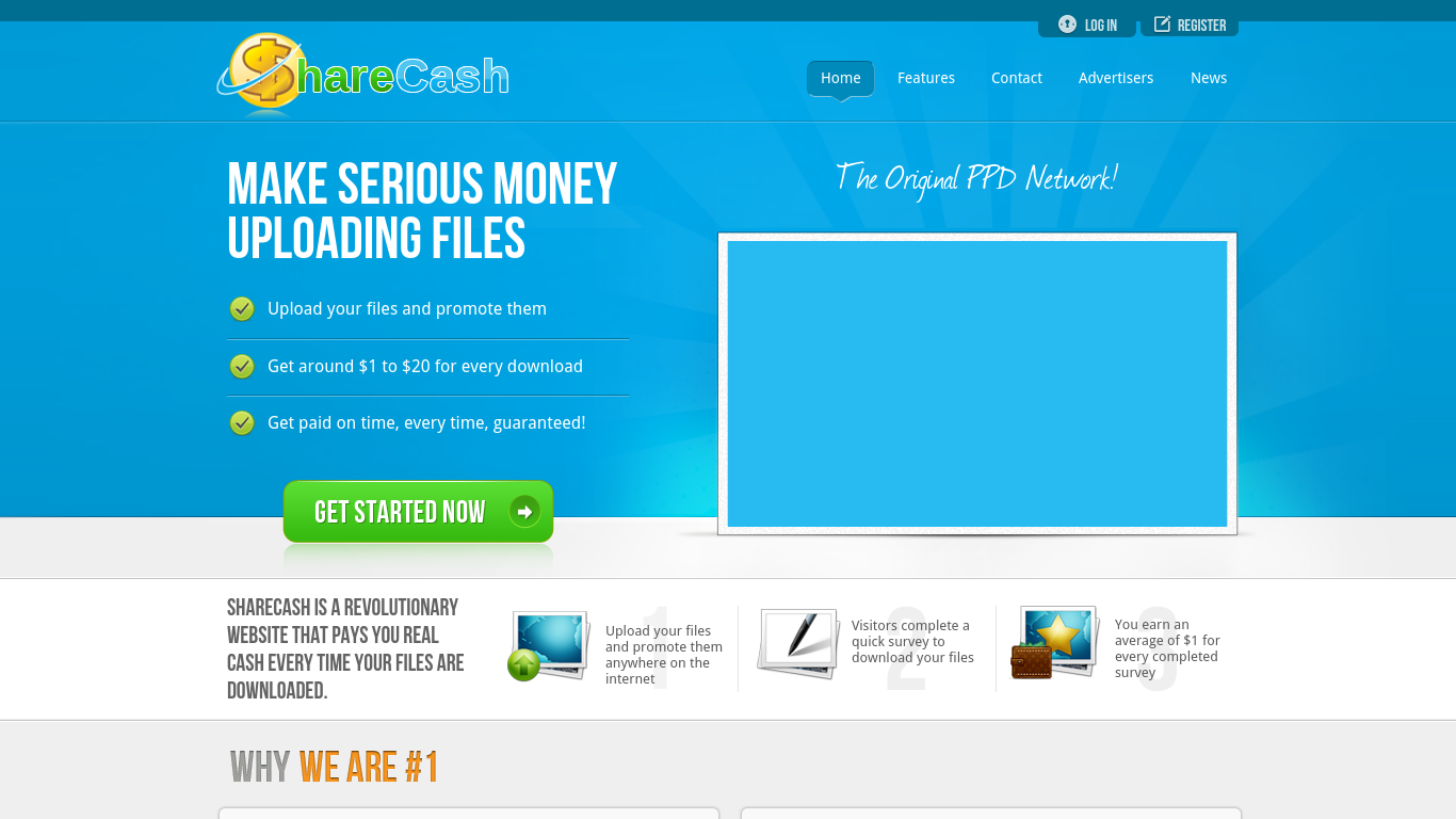 sharecash Never before has making money been so easy - or payouts so high simply upload files and get people to download them, and earn from 40 to 80 cents per download.