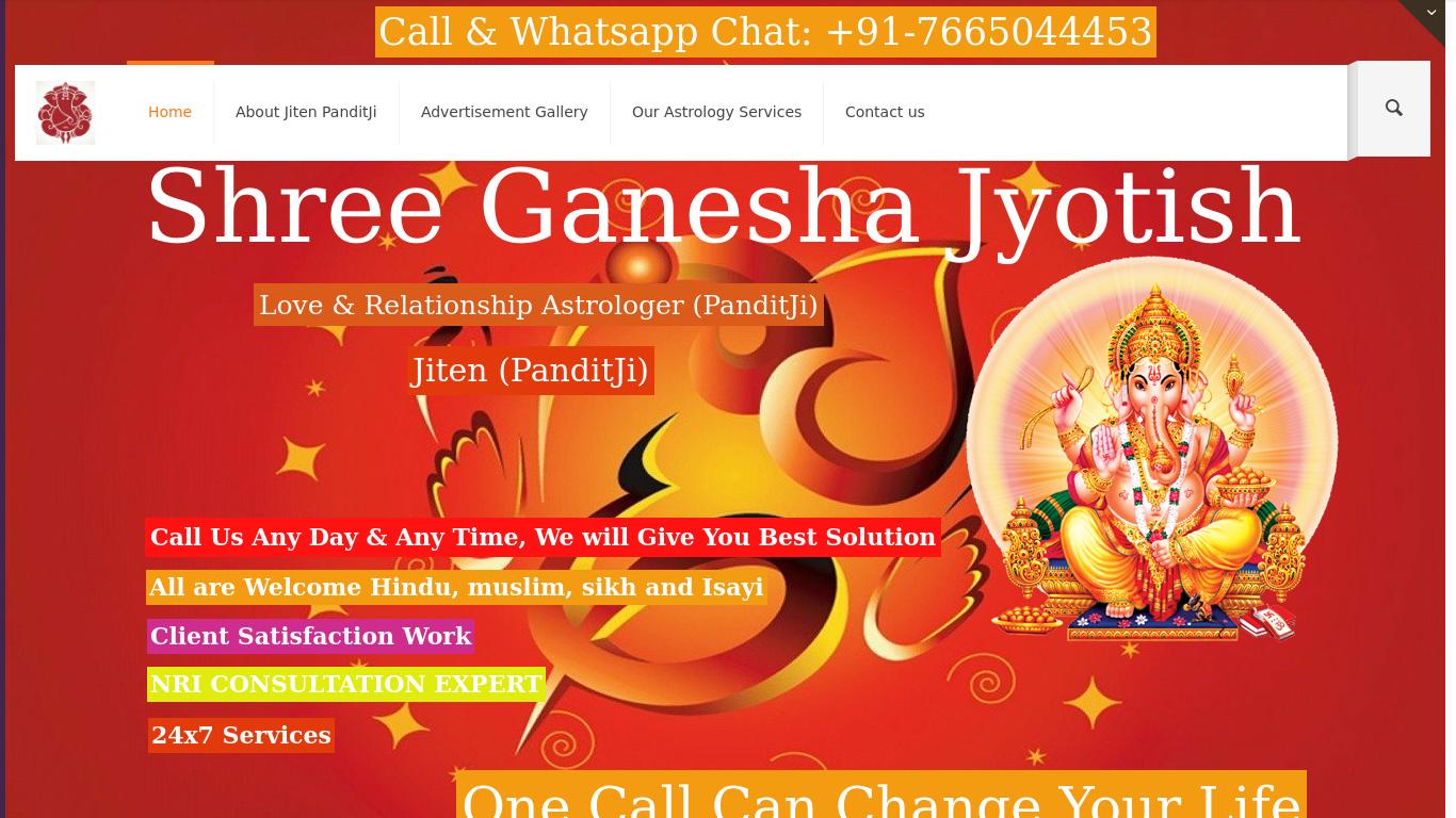 shreeganeshajyotish.com Screenshotx