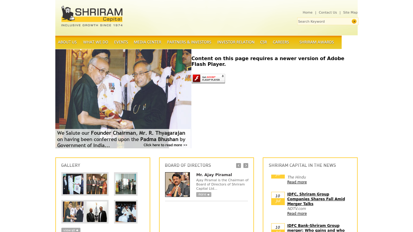 shriram.com Screenshotx