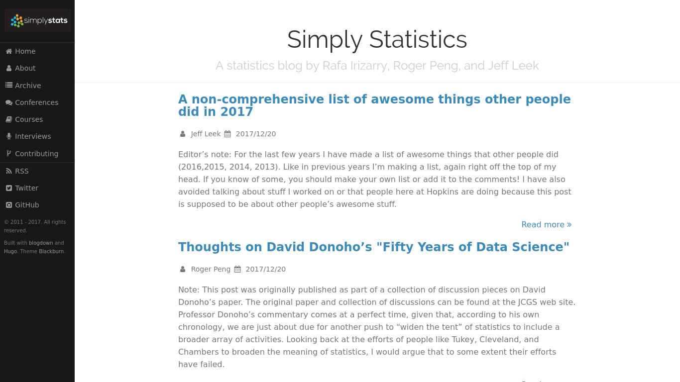 simplystatistics.org Screenshotx