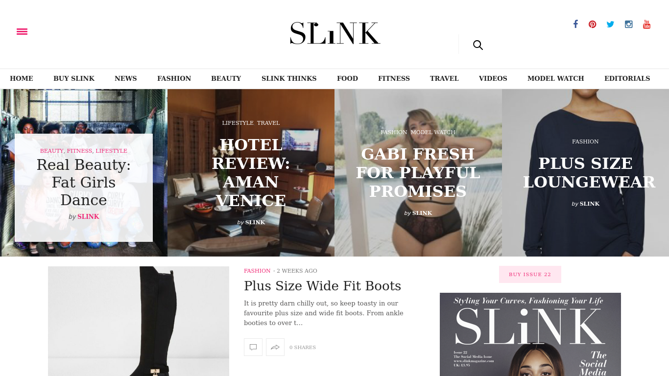 slinkmagazine.com Screenshotx