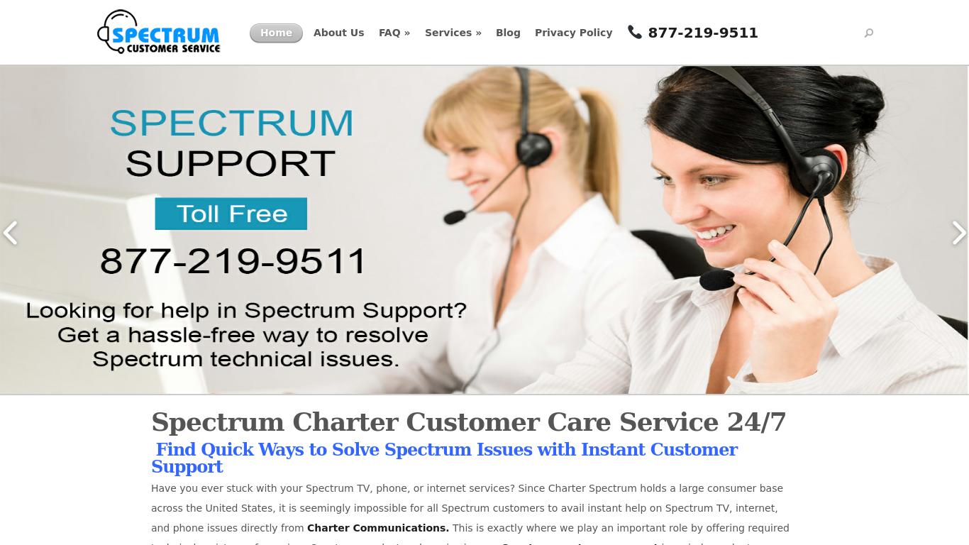 spectrumcustomerservice.com Screenshotx