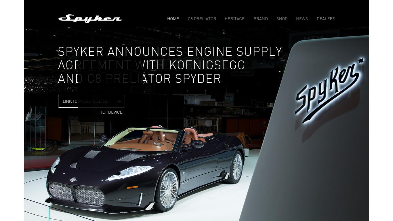 spykercars.com Screenshotx