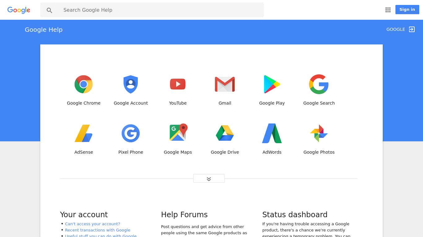 support.google.com Screenshotx