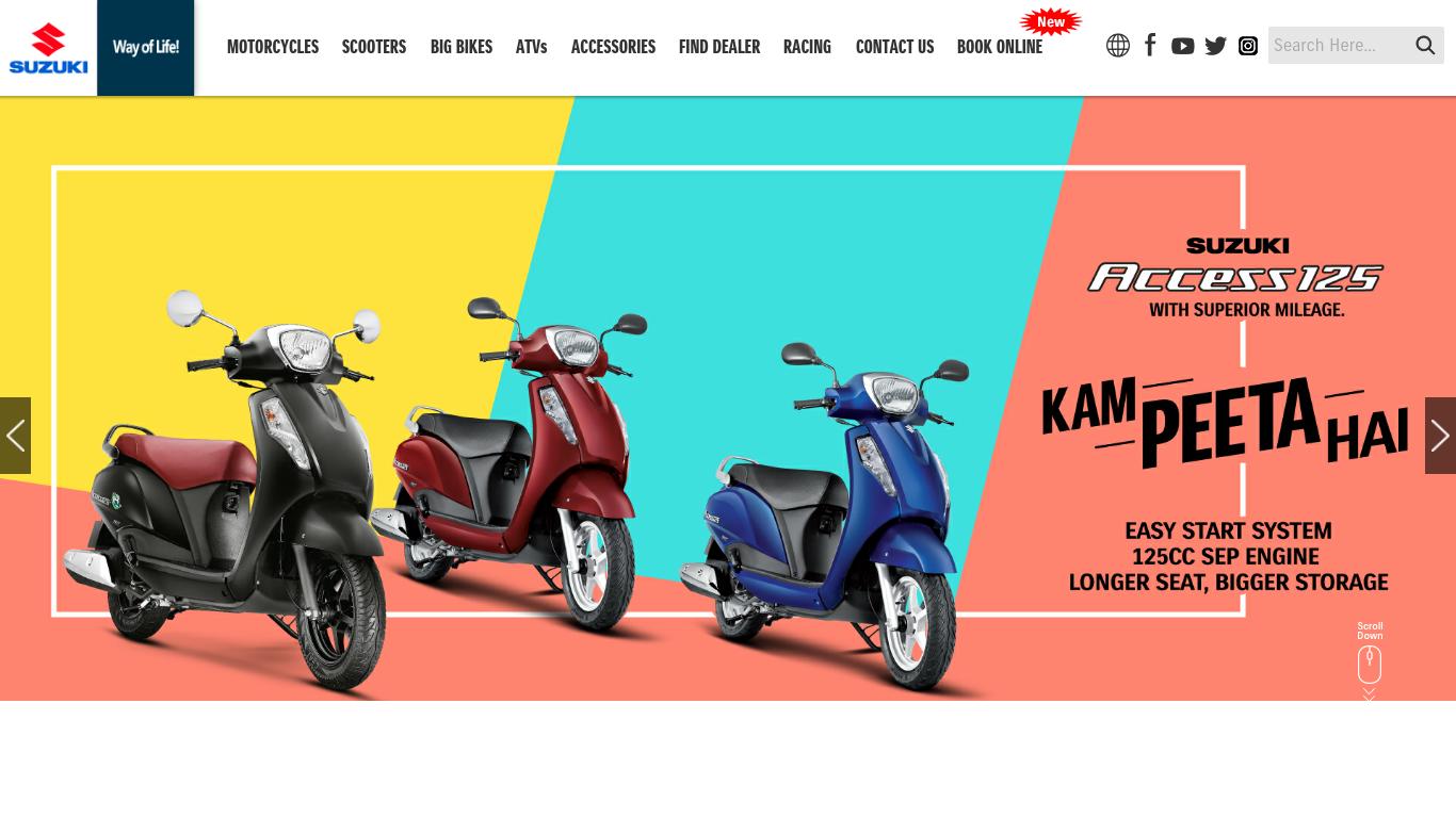 suzukimotorcycle.co.in Screenshotx