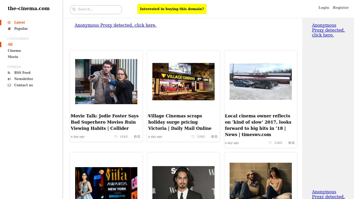 the-cinema.com Screenshotx
