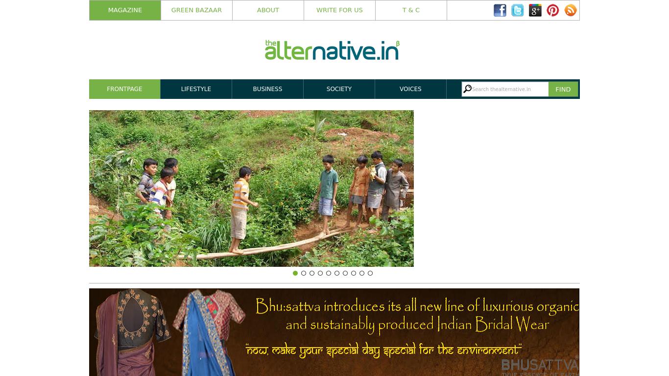 thealternative.in Screenshotx