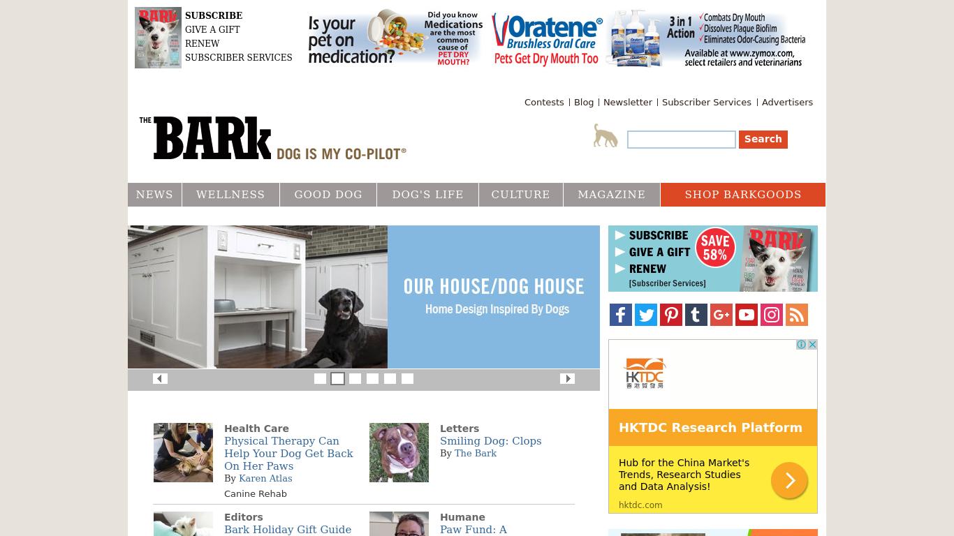 thebark.com Screenshotx