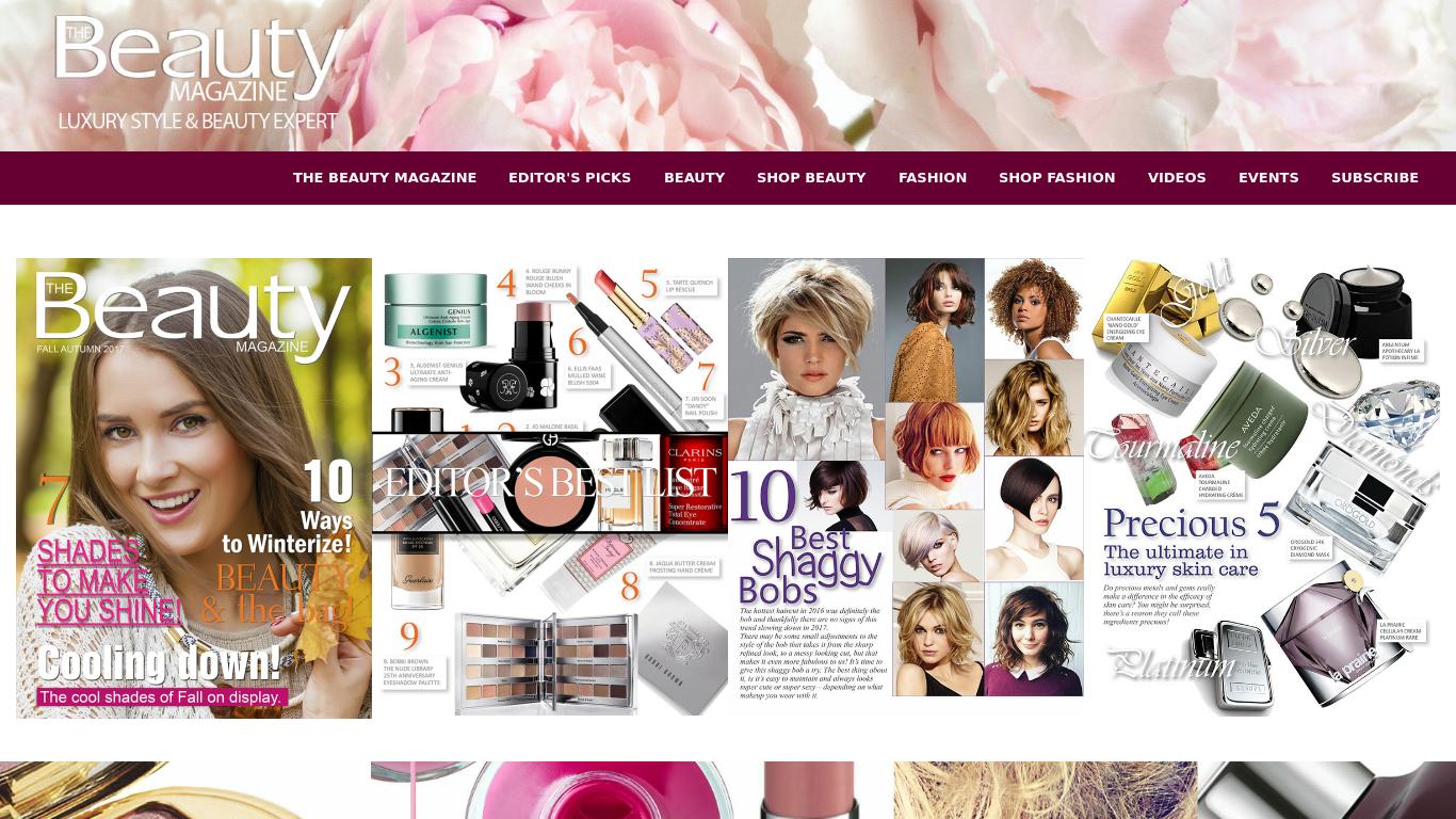 thebeautymagazine.com Screenshotx