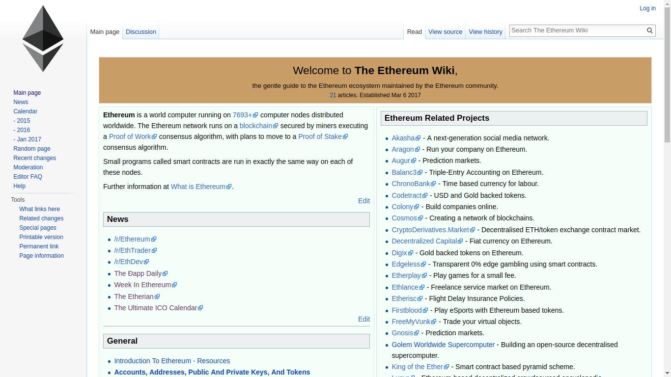 theethereum.wiki Screenshotx