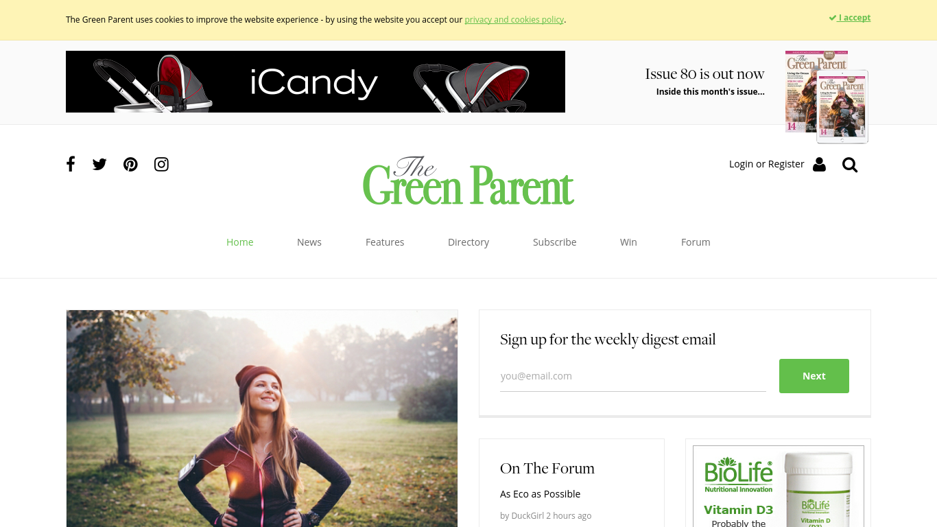 thegreenparent.co.uk Screenshotx