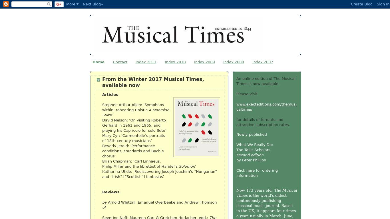 themusicaltimes.blogspot.in Screenshotx