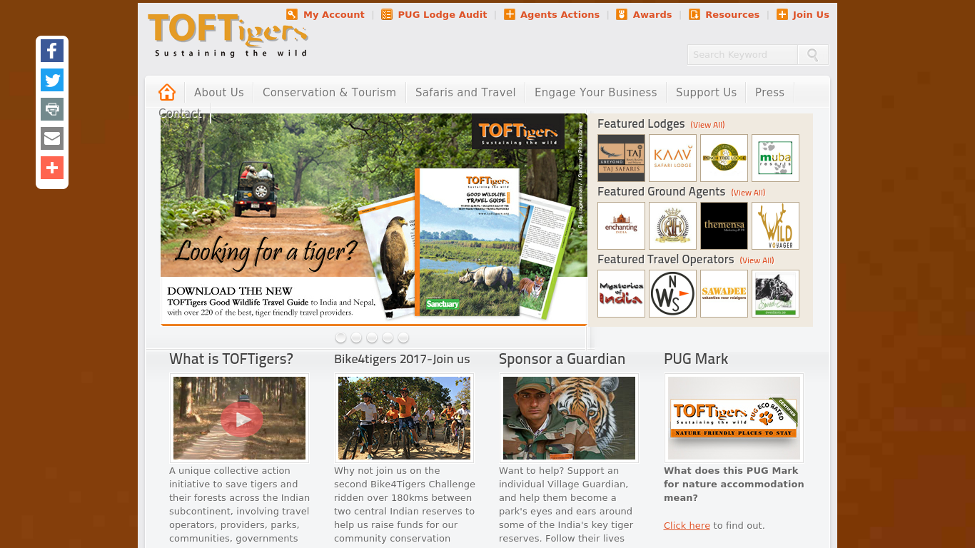 toftigers.org Screenshotx
