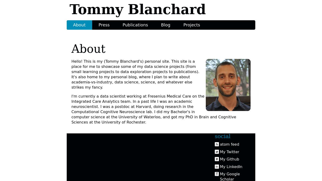 tommyblanchard.com Screenshotx