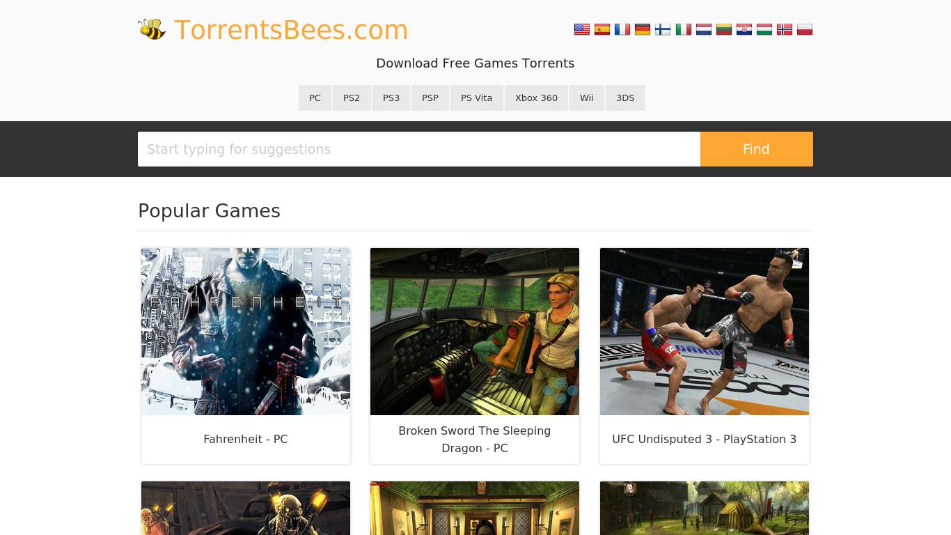 torrentsbees.com Screenshotx