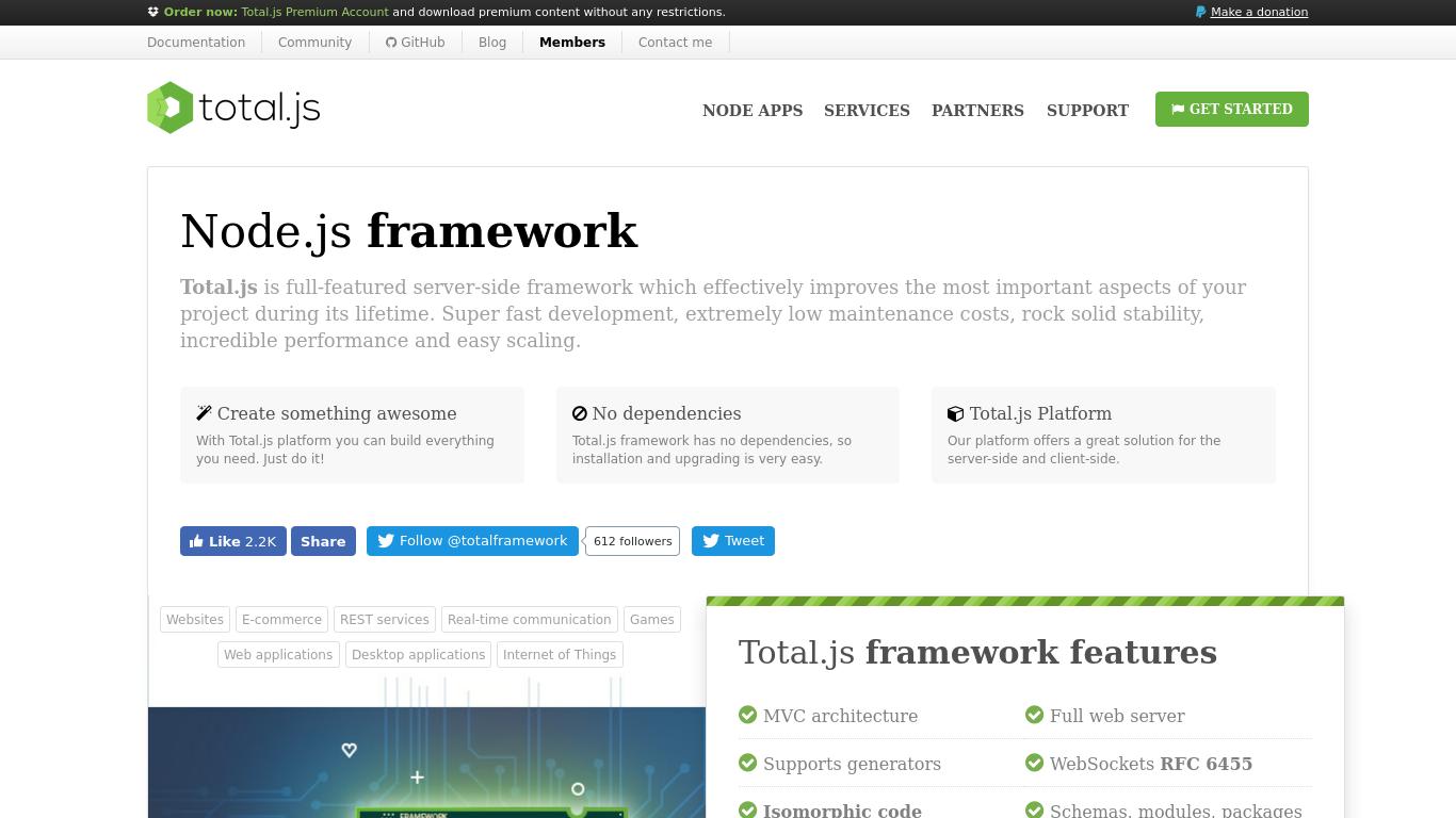 totaljs.com Screenshotx
