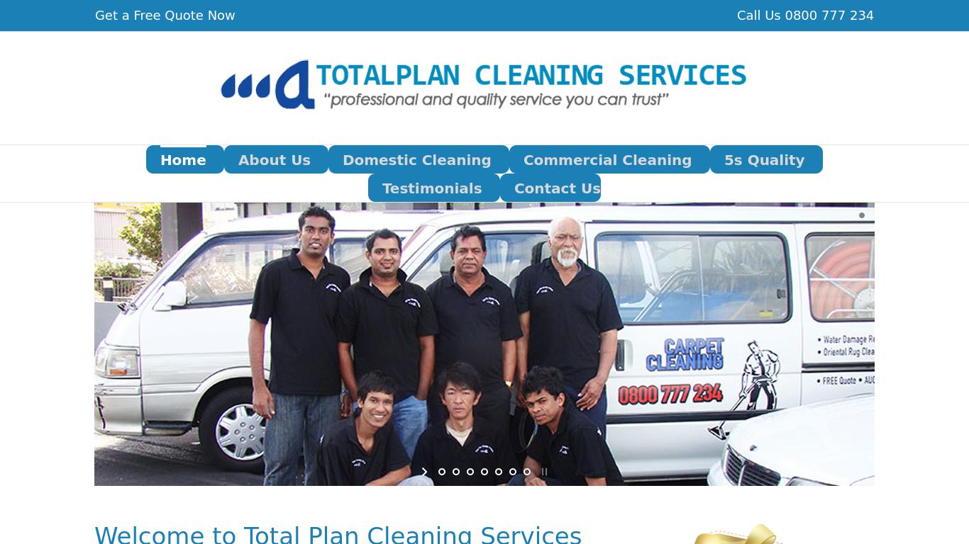 totalplancleaning.co.nz Screenshotx