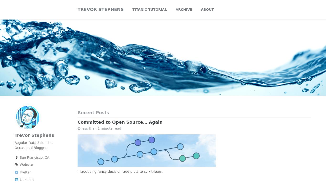 trevorstephens.com Screenshotx