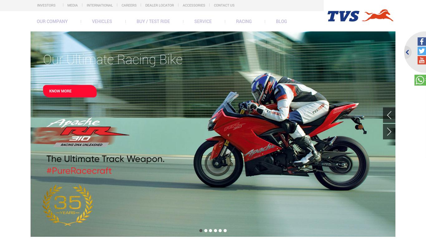 tvsmotor.com Screenshotx