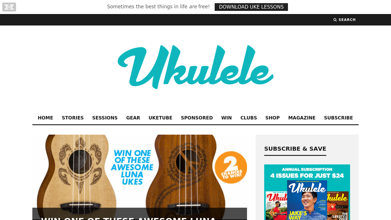 ukulelemag.com Screenshot