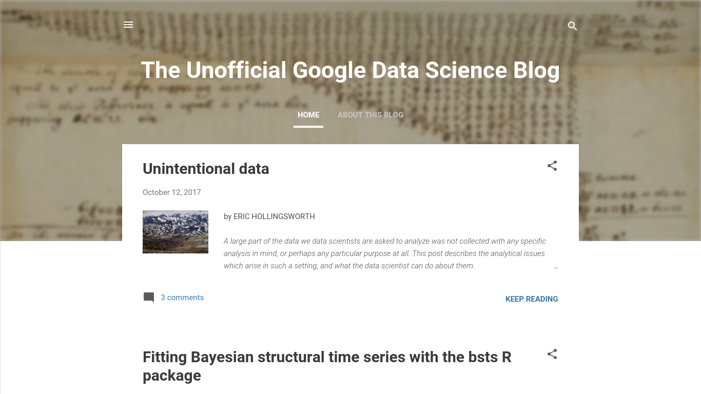 unofficialgoogledatascience.com Screenshot