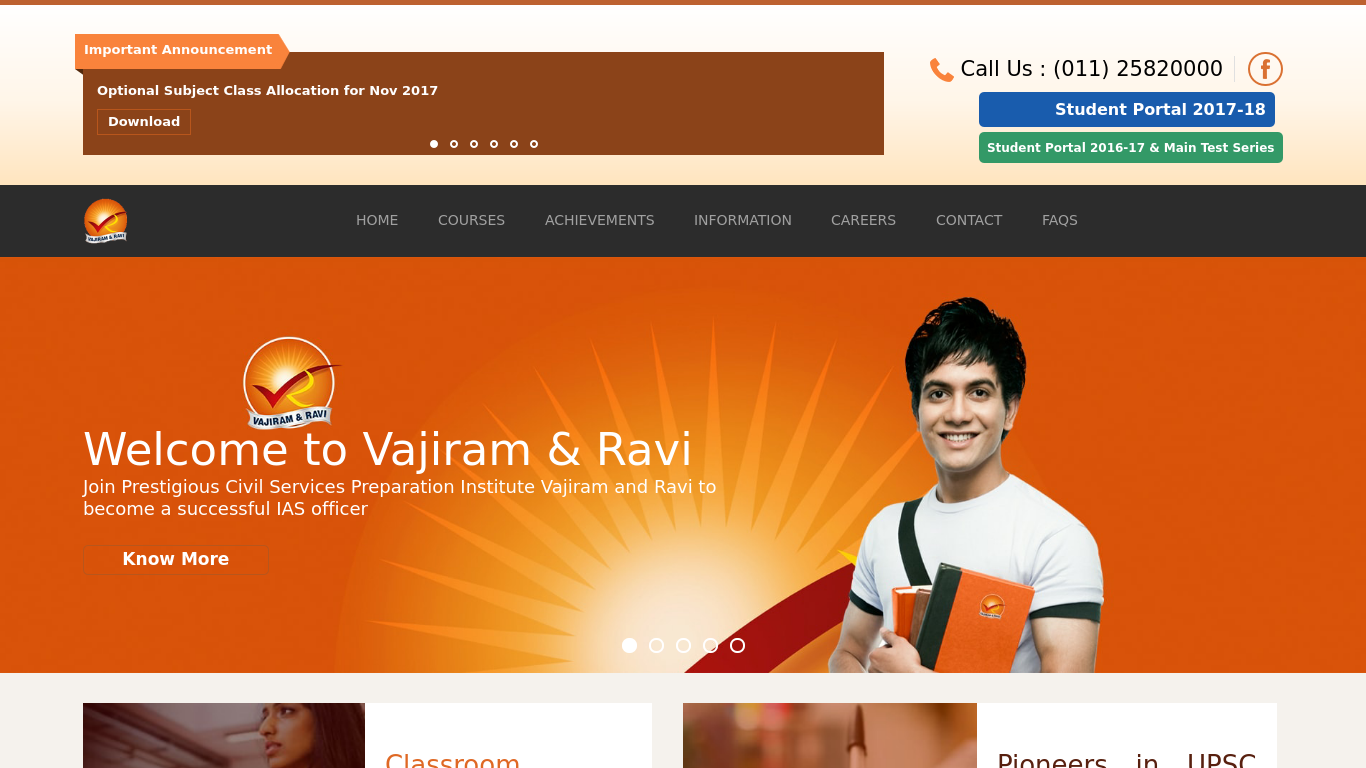 vajiramandravi.com Screenshotx
