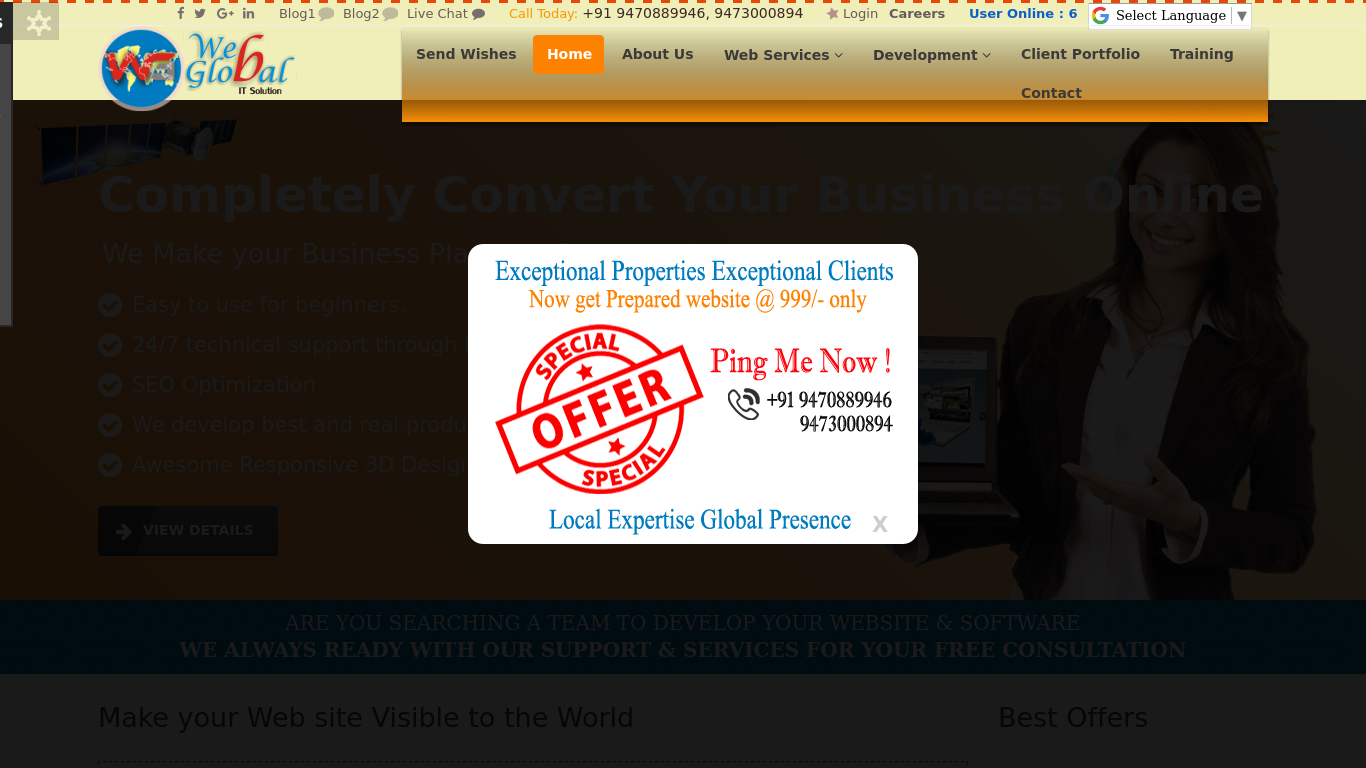 webglobal.in Screenshotx