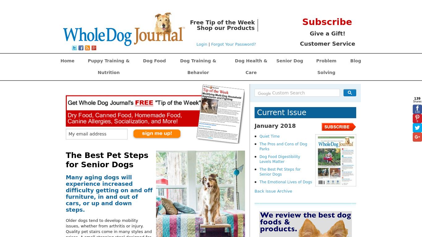 whole-dog-journal.com Screenshotx