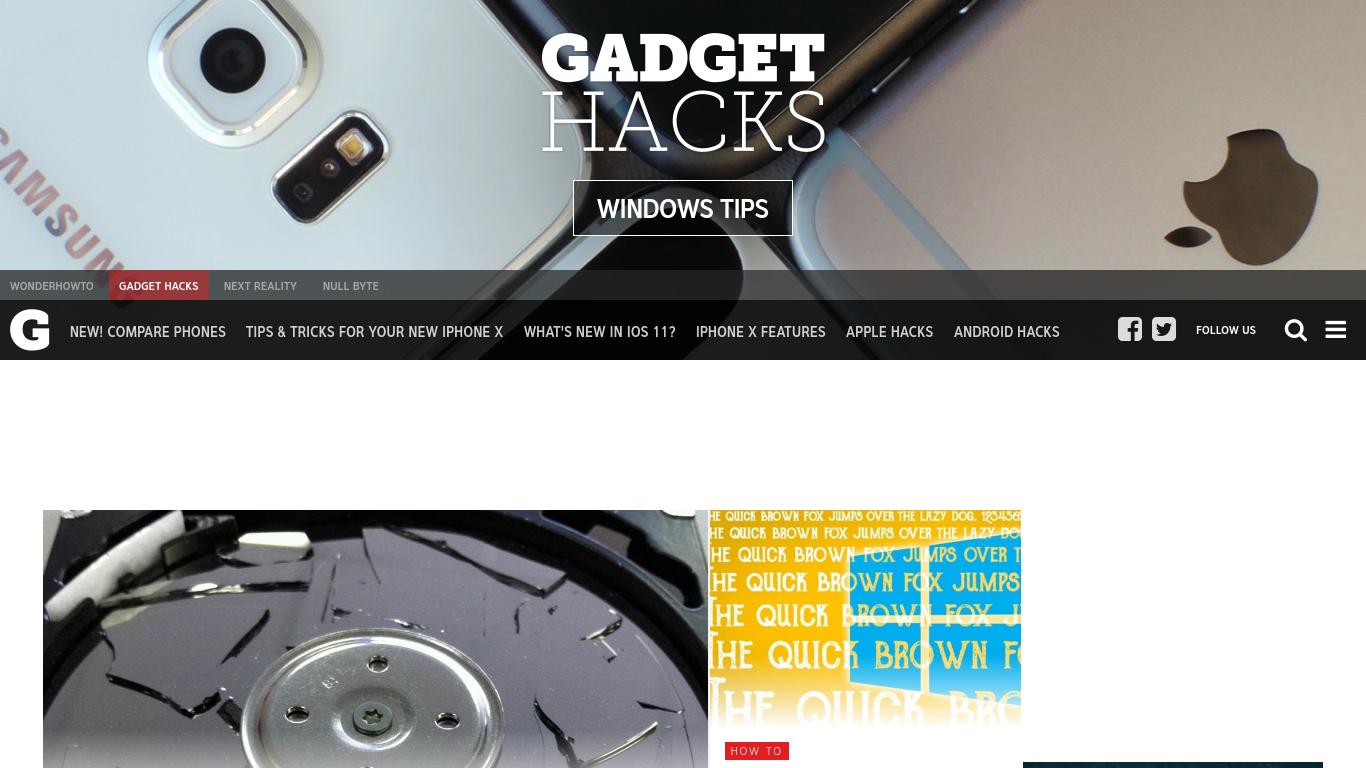 windows.gadgethacks.com Screenshotx