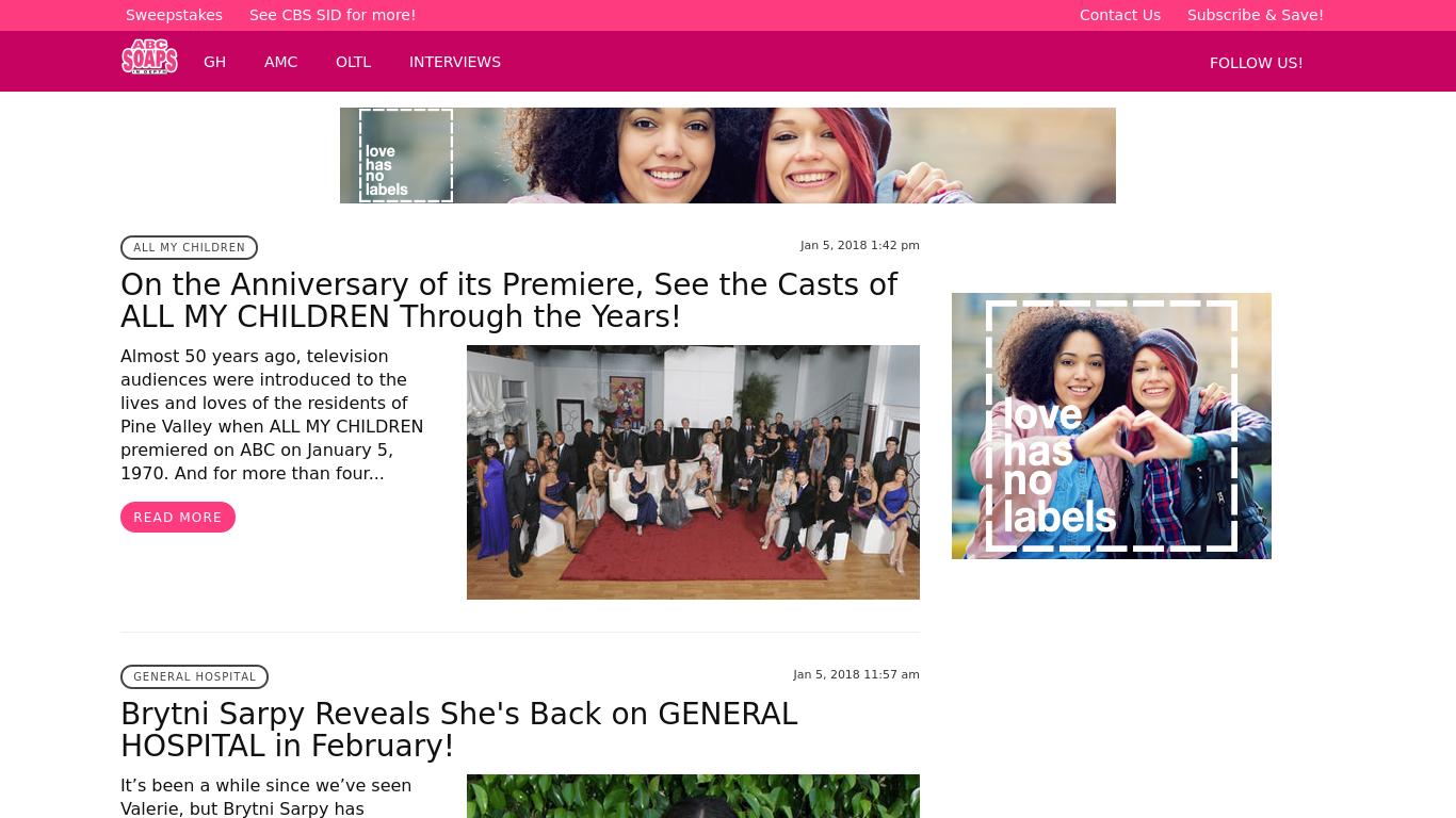 www.abc.soapsindepth.com Screenshotx