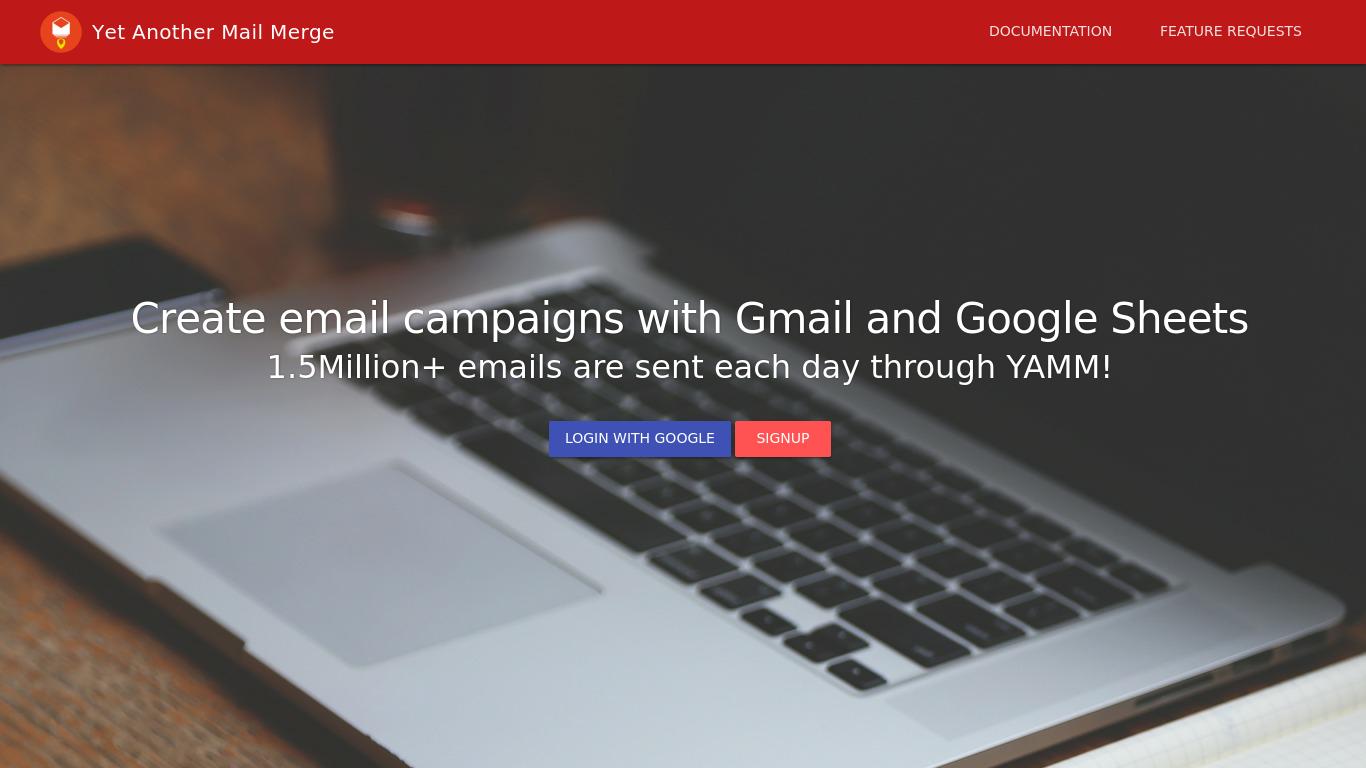 yet-another-mail-merge.com Screenshotx