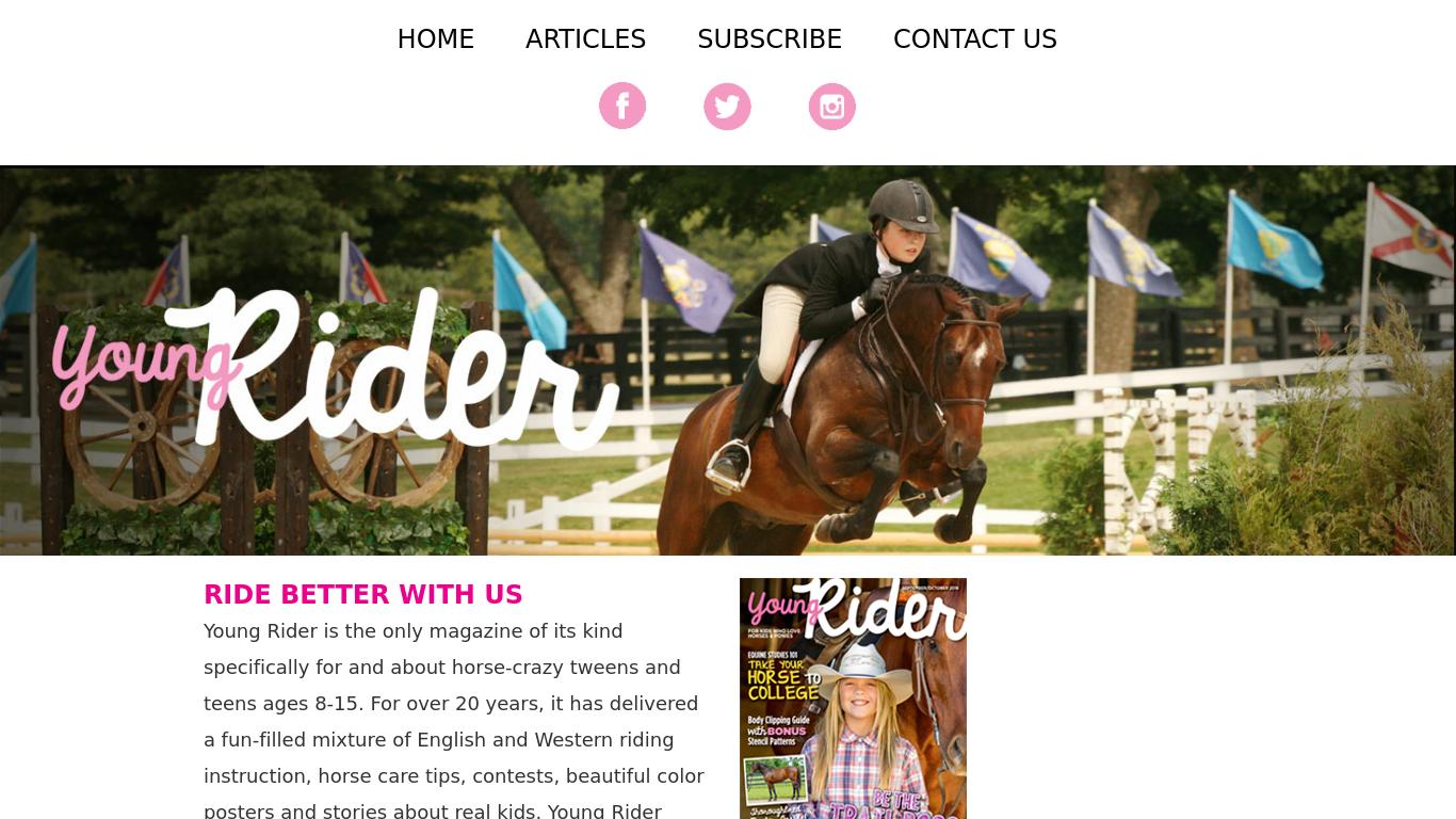 youngrider.com Screenshotx