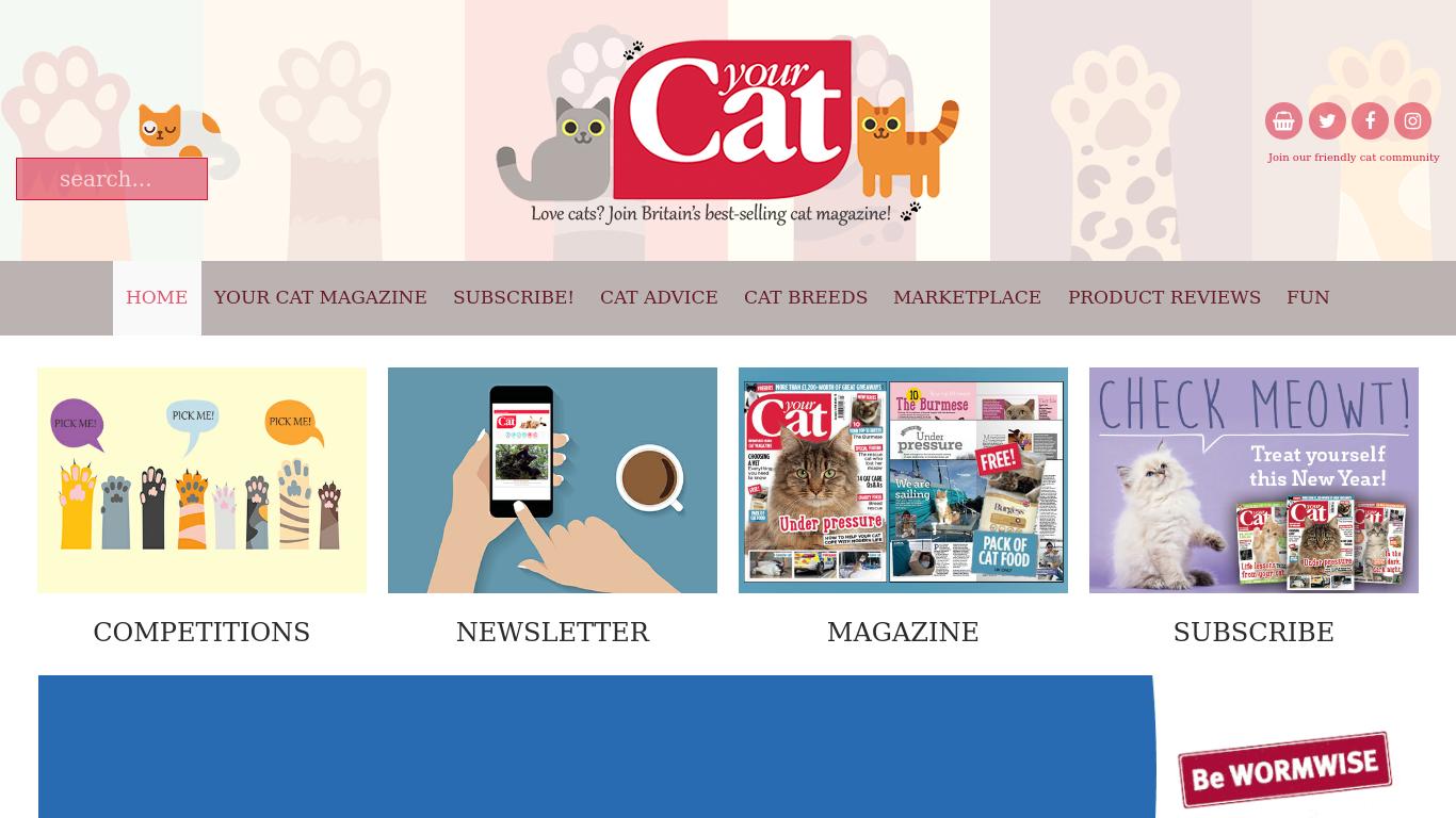 yourcat.co.uk Screenshotx